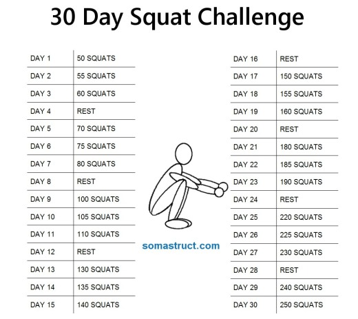 30 Day Squat Challenge   Does Running Late Count As Exercise?